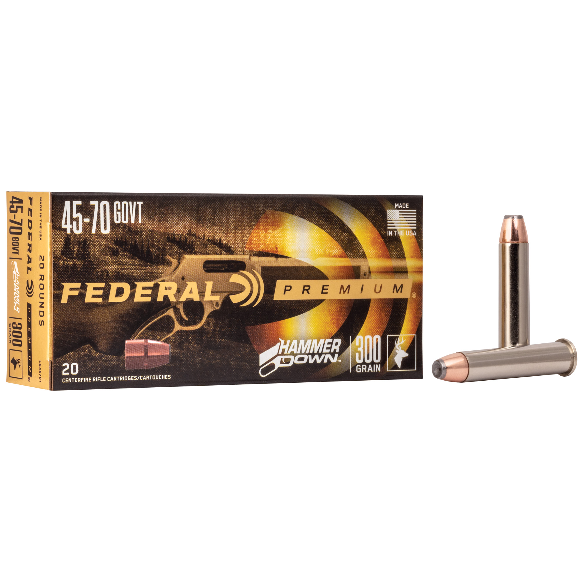 Federal Fed Hmr Dwn 45-70gvt 300gr Sp 20/200