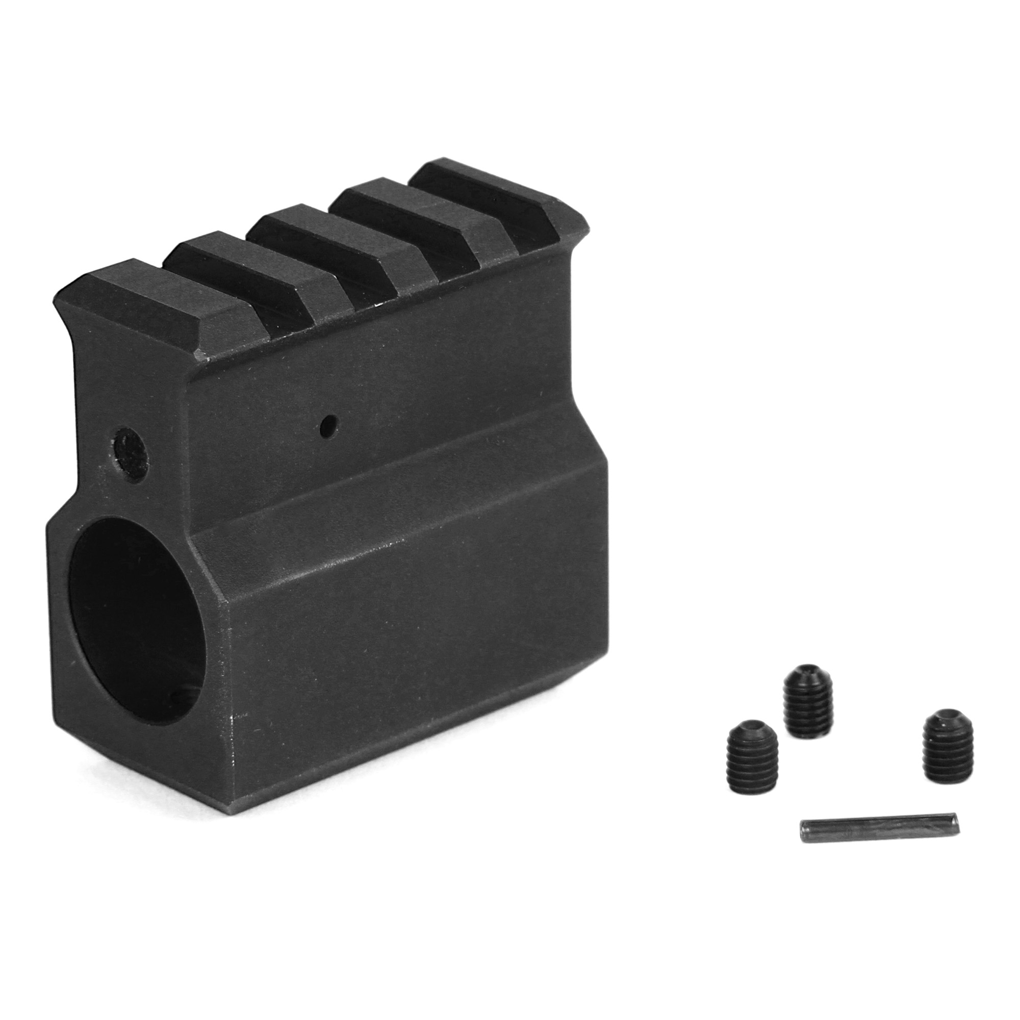 Lbe .750 Gas Block W/rail Blk