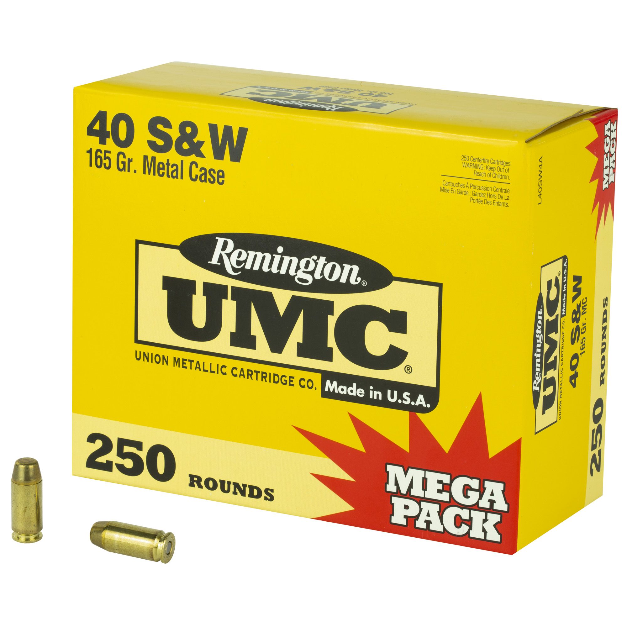 Remington Rem Umc Mp 40sw 165gr Fmj 250/1000