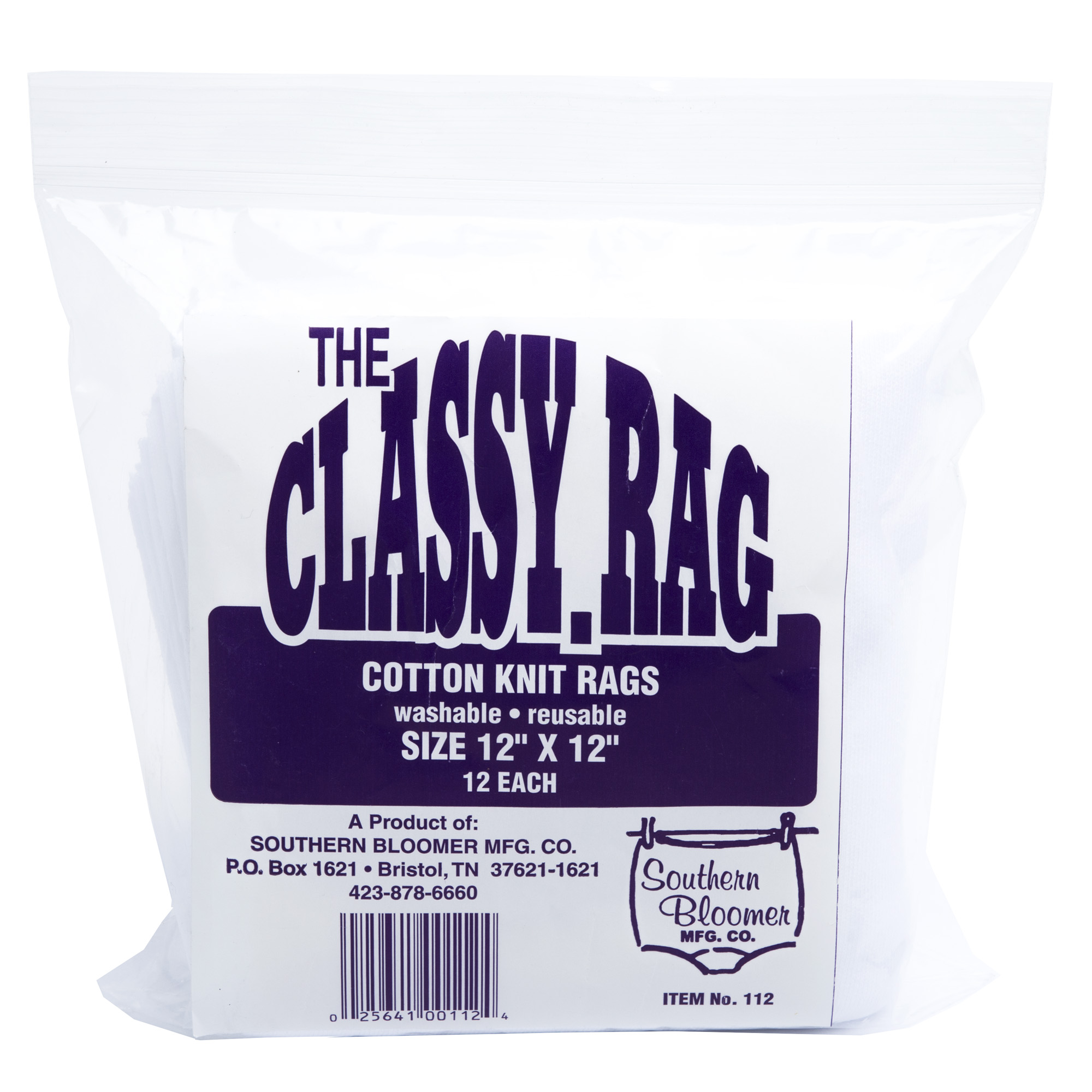 "Sthrn Blmr Cotton Rag 12x12"" 12/bag"