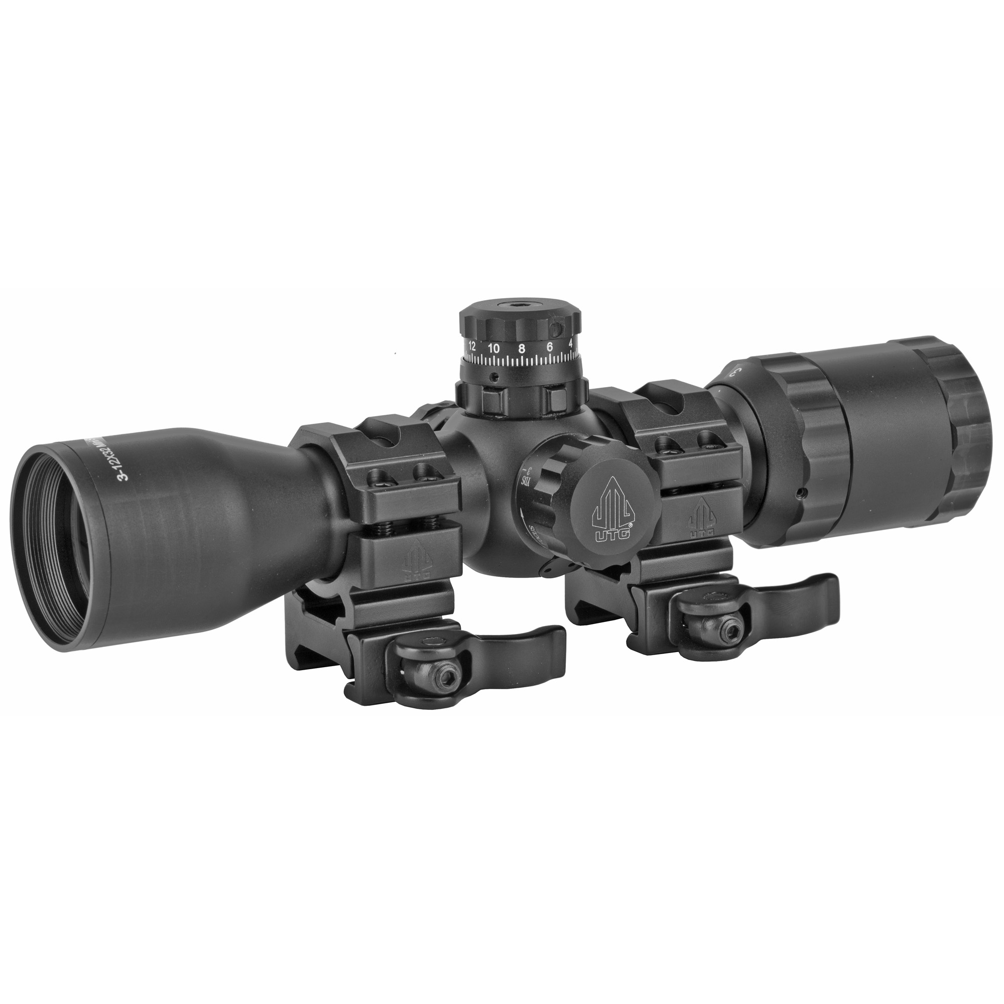 Utg 3-12x32 Scope Side Ao Mildot Qd