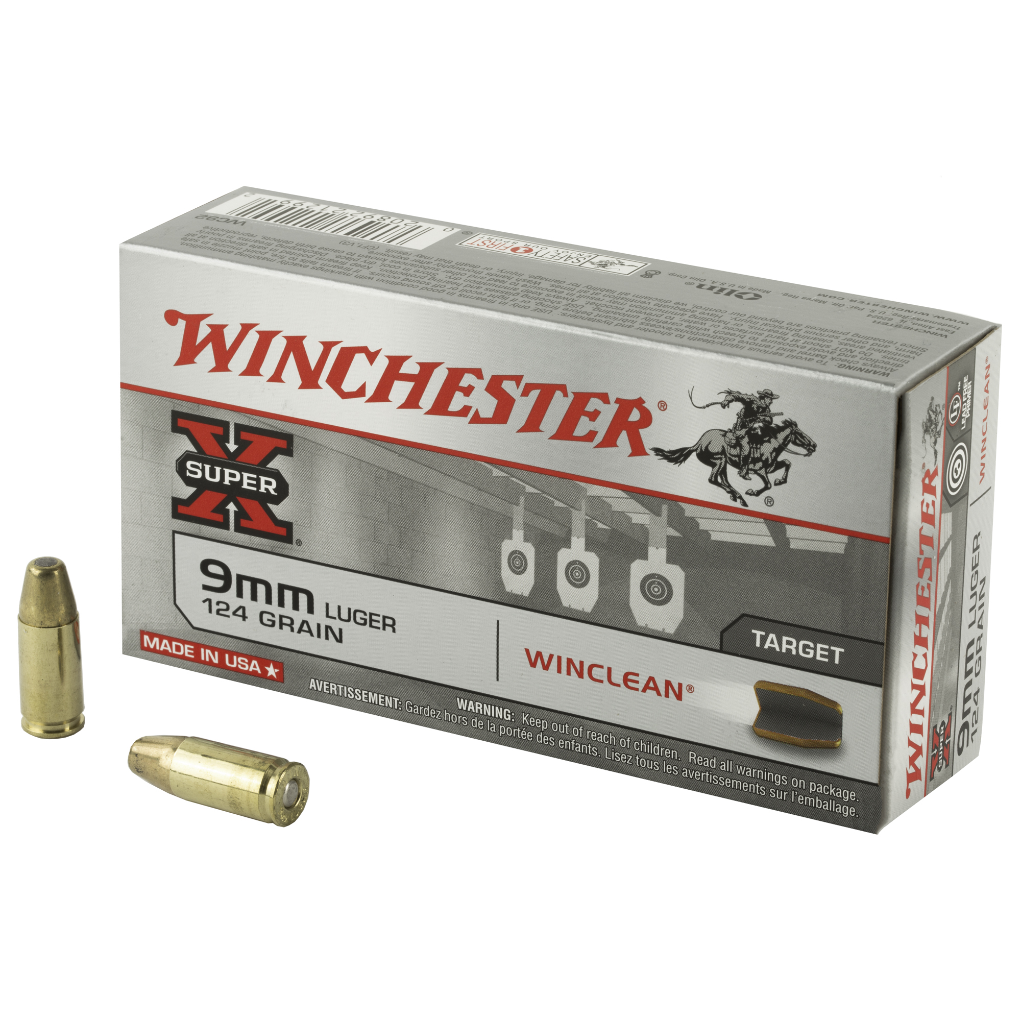 Win Sprx Winclean 9mm 124gr 50/500