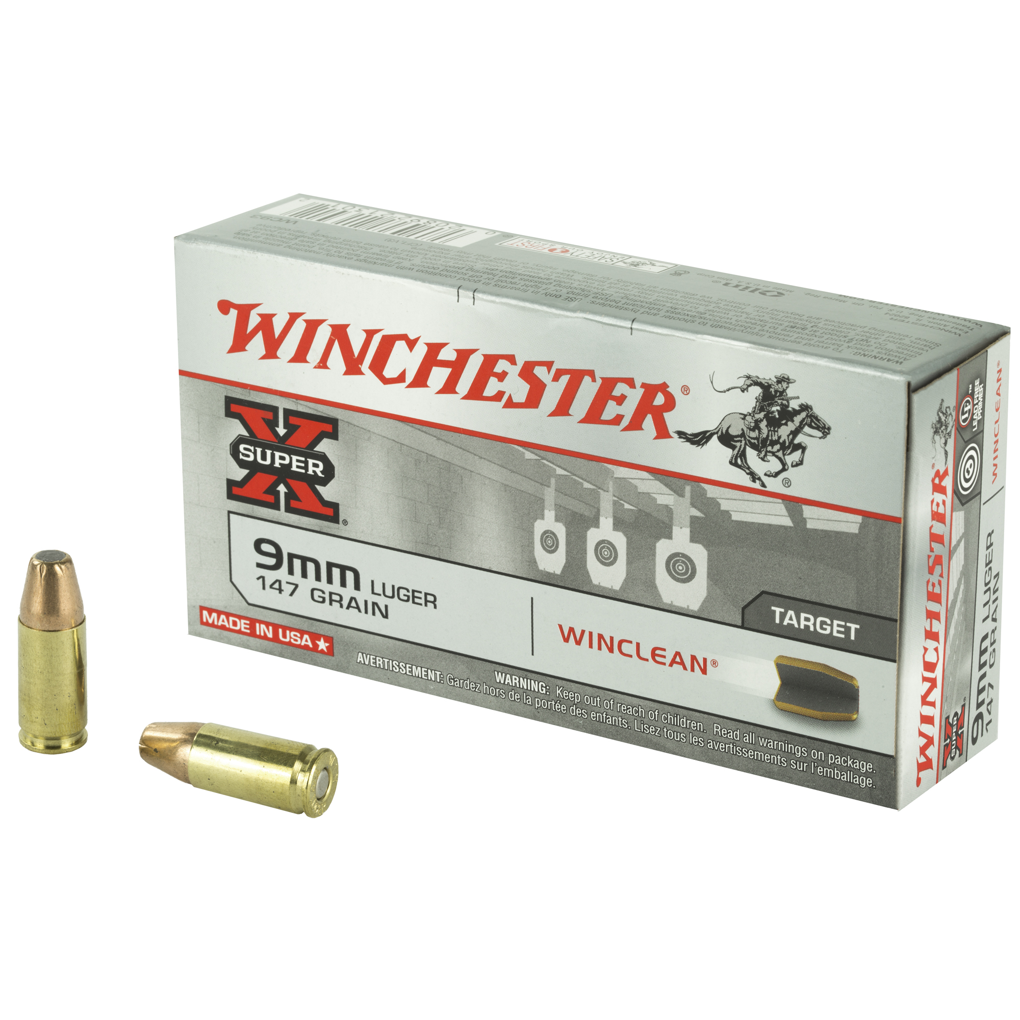 Win Sprx Winclean 9mm 147gr 50/500