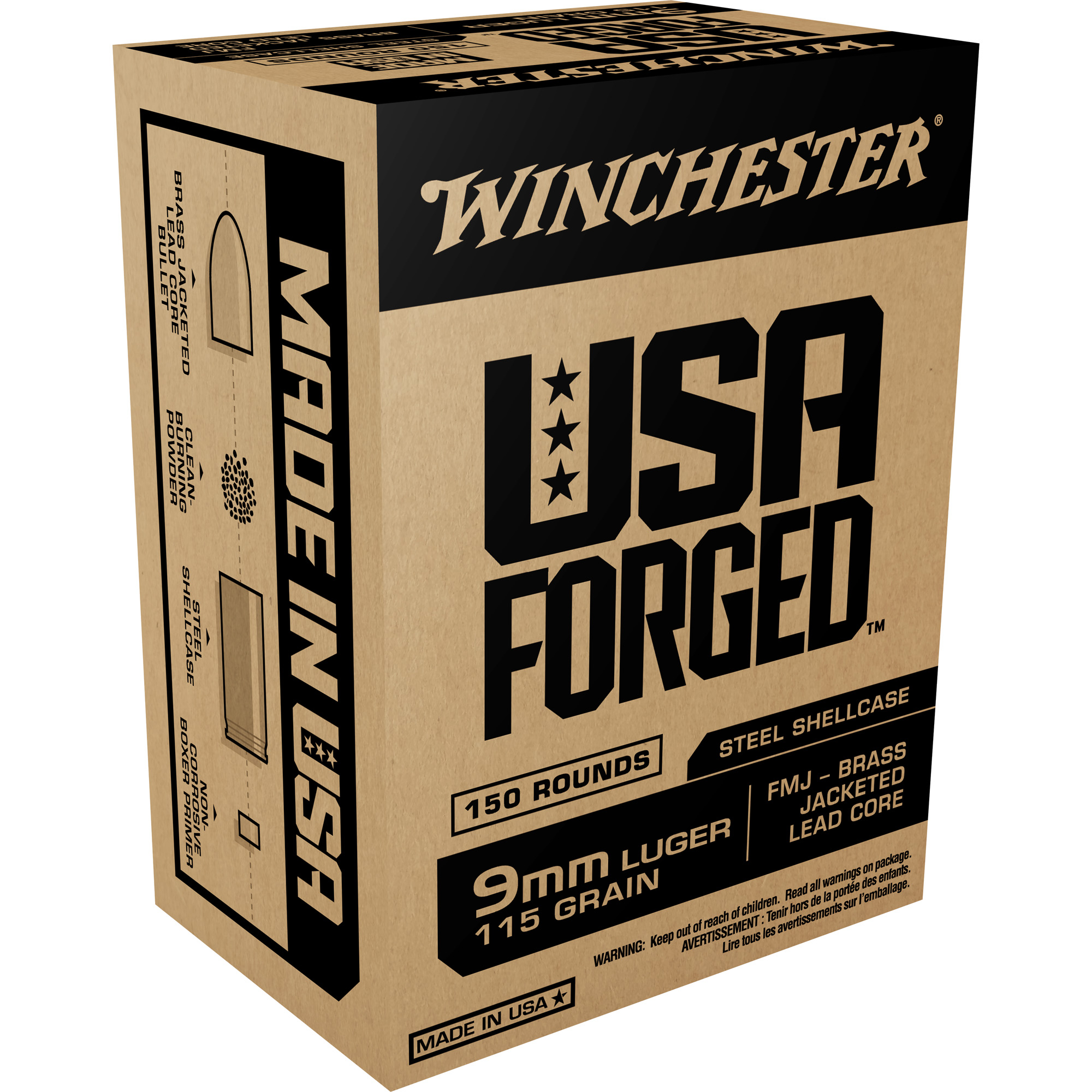 Win Usa Frgd 9mm 115gr Fmj 1000rd