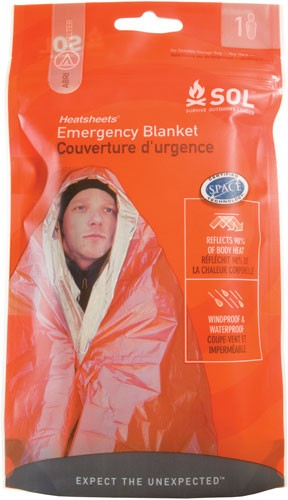 "Amk Sol Emergency Blanket - 2.9 Oz 60""x84"" Made In Usa"