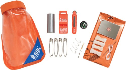 Amk Sol Scout Survival Kit W/ - Dry Bag Mirrorsparker & More
