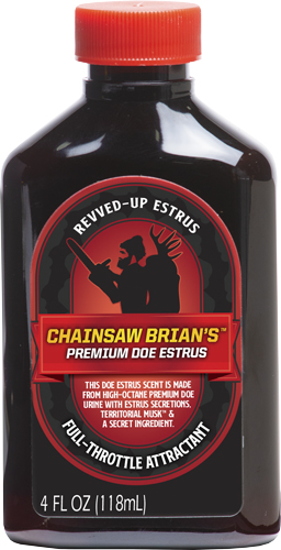 Wildlife Research Wrc Deer Lure Chainsaw Brian\'s - Premium Doe Estrus 4fl Oz