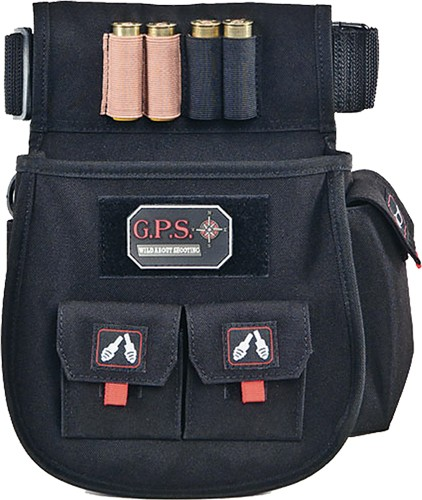 Gps Deluxe Shell Pouch - W/ Twin Pouches & Web Belt Blk
