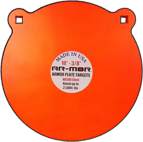 "Ar-mor 10"" Ar500 Steel Gong - 3/8"" Thick Steel Orange Round"