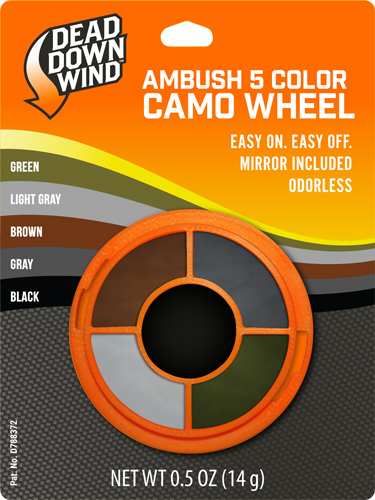 Ddw Camo Face Paint Ambush - 5-color Wheel W/mirror