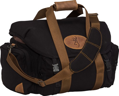 "Bg Lona Canvas Shooting Bag - 19""w X 11.5""h X 13""d Blk/brn"