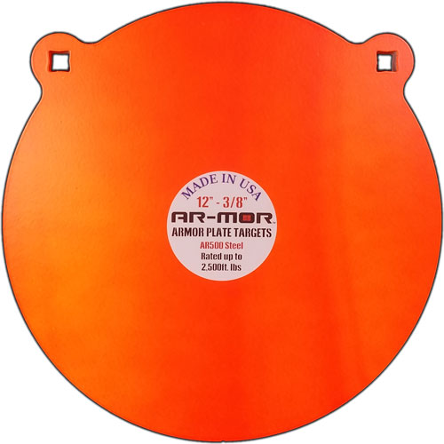 "Ar-mor 12"" Ar500 Steel Gong - 1/2"" Thick Steel Orange Round"