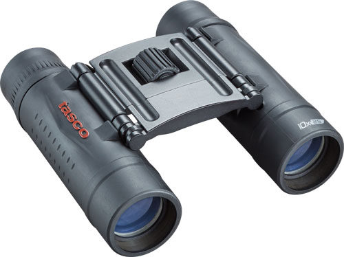 Tasco Binocular Essentials - 10x25 Roof Prism Black