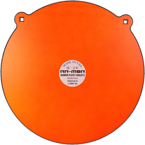"Ar-mor 16"" Ar500 Steel Gong - 3/8"" Thick Steel Orange Round"
