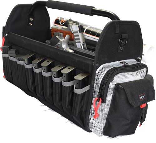 Gps Range Tote Bag Hold 6-ar - &8 Pistol Mags Plus 2 Guns Blk
