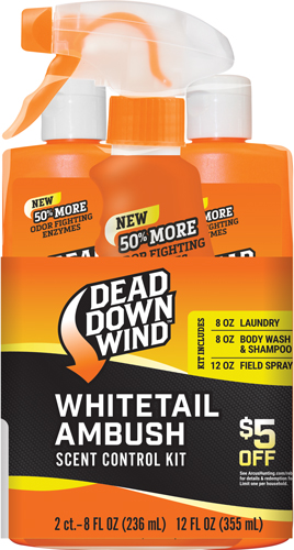 Ddw Scent Elimination Kit - Whitetail Ambush 3pc