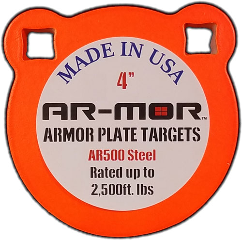 "Ar-mor 4"" Ar500 Steel Gong - 3/8"" Thick Steel Orange Round"