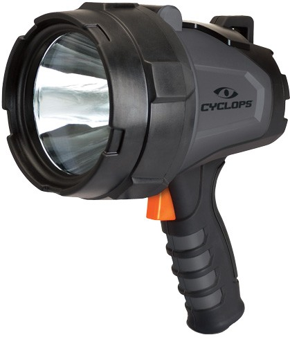 Cyclops Spotlight Rechargeable - Handheld 580 Lumen Led Black