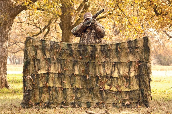 Red Rock Ghillie Blind 4'x8' - Woodland Camouflage Netting