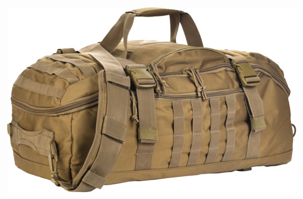 Red Rock Traveler Duffle Bag - Backpack Or Luggage Coyote