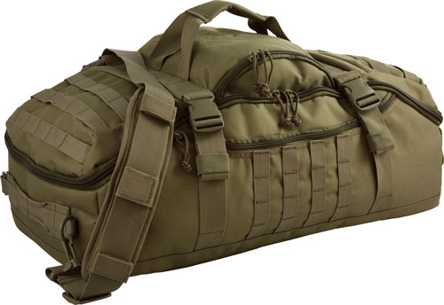 Red Rock Traveler Duffle Bag - Backpack Or Luggage Olive Drab