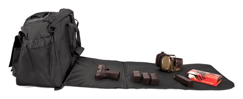Red Rock Deluxe Range Bag Blk - Fold Out Work/cleaning Gun Mat