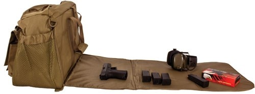 Red Rock Deluxe Range Bag Tan - Fold Out Work/cleaning Gun Mat