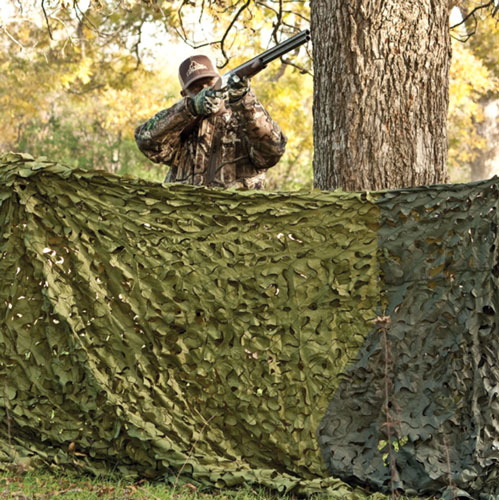 Red Rock Camouflage Netting - Woodland 3d Leaf Cut 8'x10'