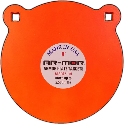 "Ar-mor 8"" Ar500 Steel Gong - 3/8"" Thick Steel Orange Round"