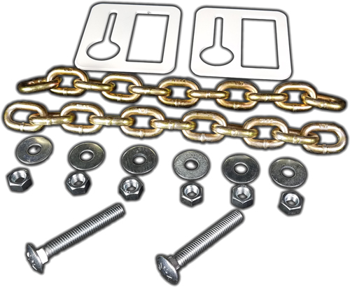 Ar-mor Chain Hanging Set - 2-12 Link Chains & 2-brackets