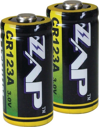Psp Zap Cr123a Batteries - Lithium 2-pack