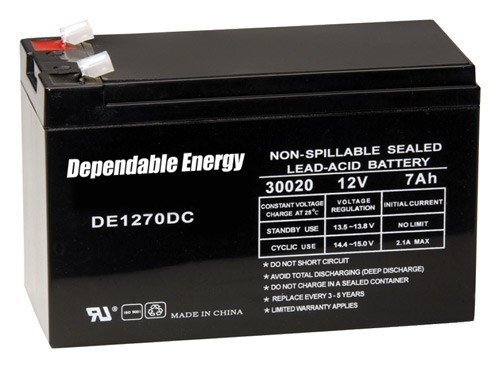 American Hunter Battery - Rechargeable 12v 7amp Tab Top