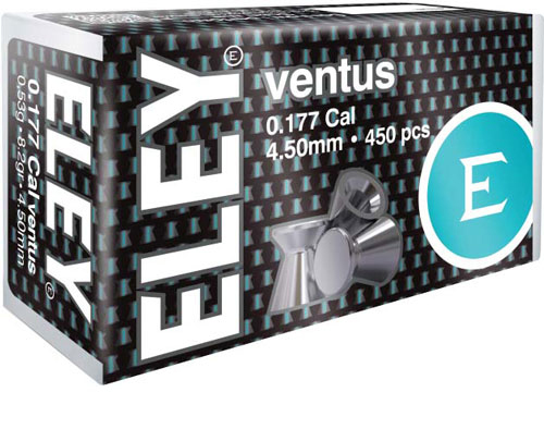 Eley Ventus Pellets .177 - 4.50mm 8.2 Grains 450-pack