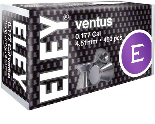 Eley Ventus Pellets .177 - 4.51mm 8.2 Grains 450-pack
