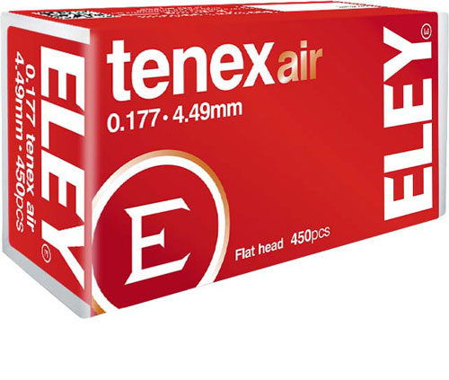Eley Tenex Air Pellets .177 - 4.49mm 8.2 Grains 450-pack