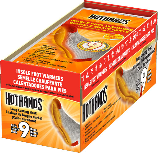 Hothands Insole Foot Warmer 16 - Pairs 9 Hour W/ Adhesive