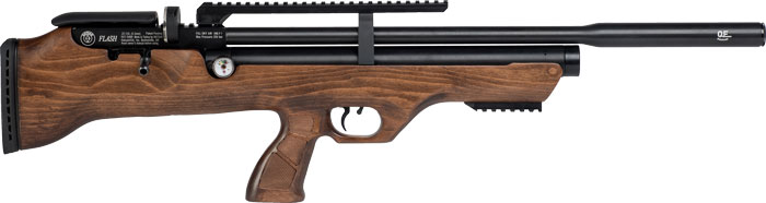 Hatsan Airguns Hatsan Flashpup .22 Pcp 1000 - Fps Walnut/blued W/ 2 Mags