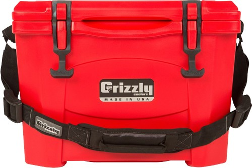 Grizzly Coolers Grizzly G15 - Red/red 15 Quart Cooler