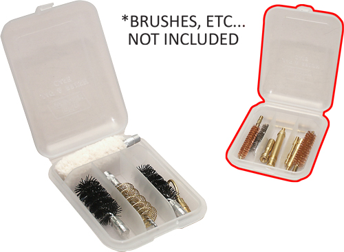 Mtm Jag & Brush Case - 4-compartments Clear