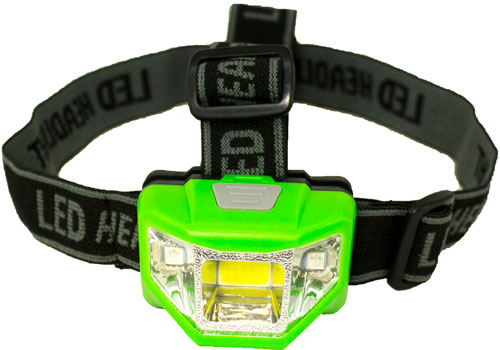 Promier 200 Lumen Headlamp - 4 Mode Green Body/white Light
