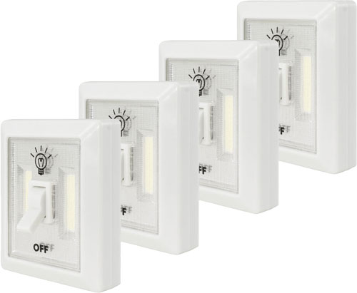 Promier Micro Cordless Light - Switch 4-pack W/magnet & Batt