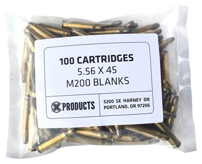 X Products 5.56 Blanks For Can - Cannon Bag Of 100