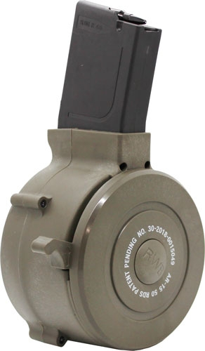Iver Johnson Magazine Ar15 - .223 50rd Drum Od Green Poly