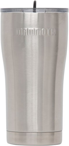 Mammoth 20 Oz Stainless Steel - Tumbler W/lid & Rubber Stopper