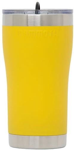Mammoth 20 Oz Ss Yellow - Tumbler W/lid & Rubber Stoppr!