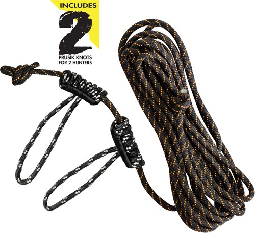 Muddy Life-line 30' W/ Double - Rope Loops Reflective Rope
