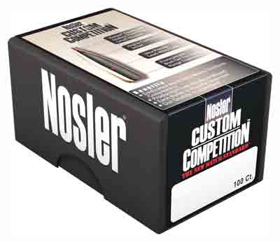 Nosler Bullets 22 Cal .224 - 80gr Hp-bt Custom Comp. 100ct_