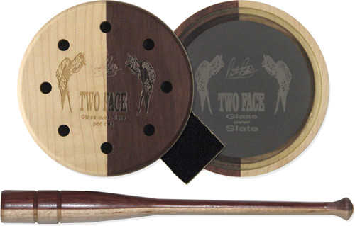 Pittman Game Calls Two Face - Glass Pot Turkey Call