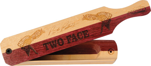 Pittman Game Calls Two Face - Box Turkey Call Prpl Hrt/maple
