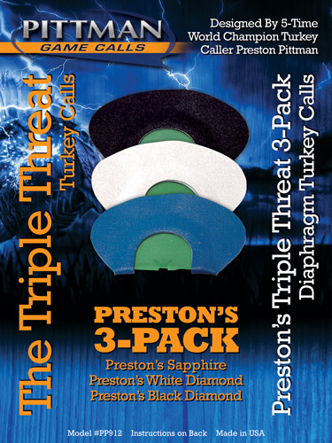 Pittman Game Calls Triple - Threat Combo Diaphram Pack